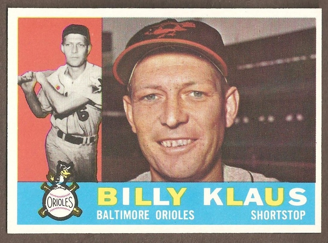 1960 Topps Billy Klaus