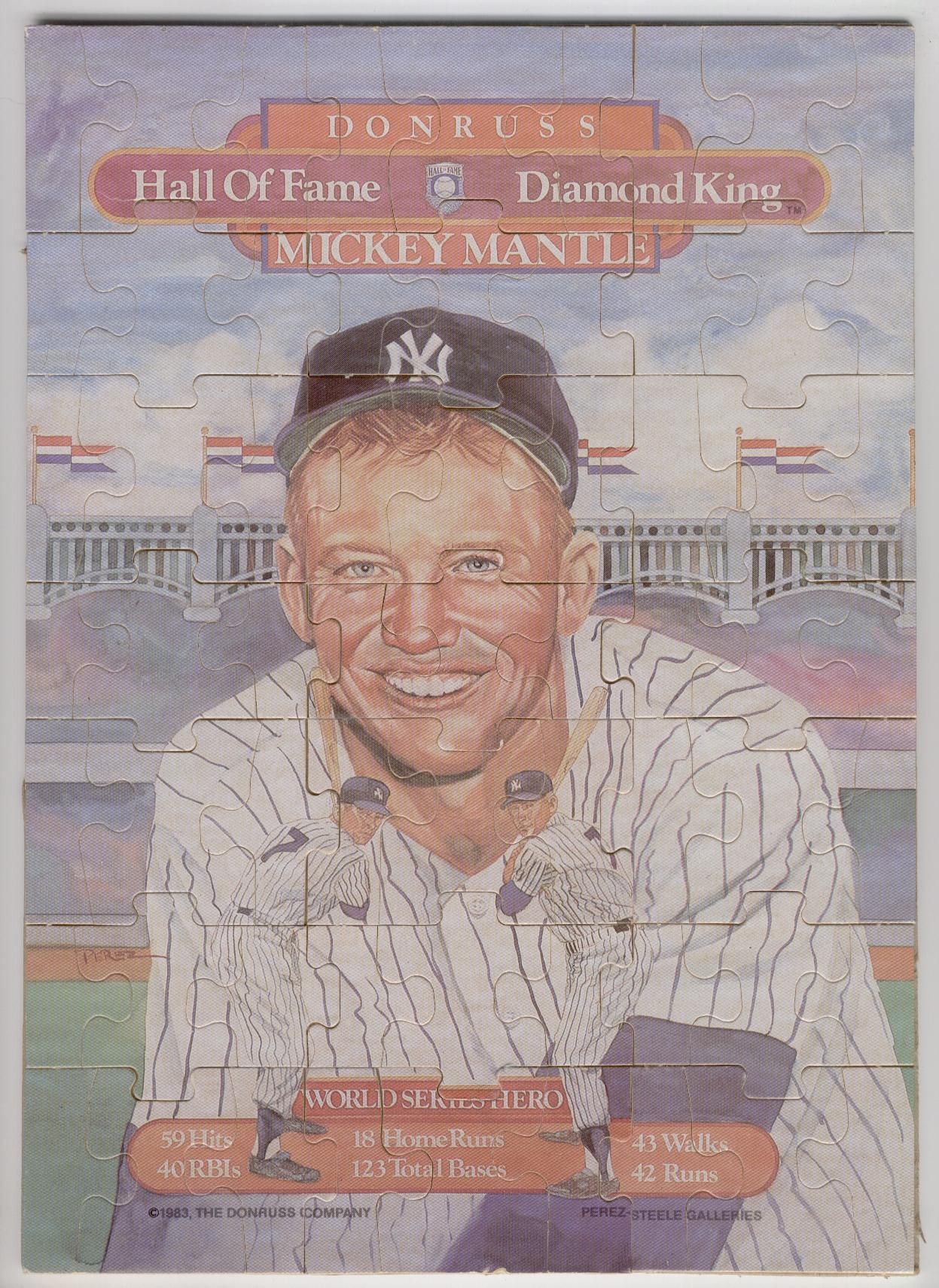 1983 Mickey Mantle Puzzle